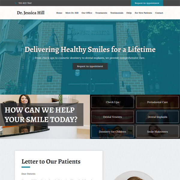 PSD to WordPress Conversion Service Dr. Jessica Hill