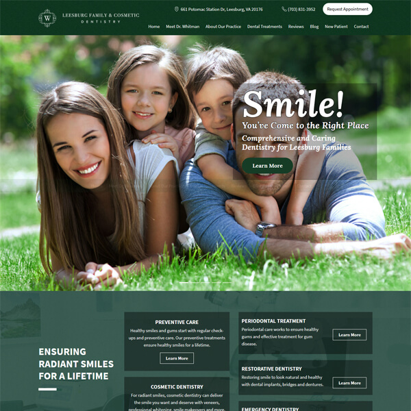 PSD to WordPress Conversion Service Smilesinleesburg.com