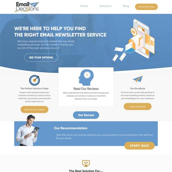 PSD to WordPress Conversion Service Emaildecisions.com