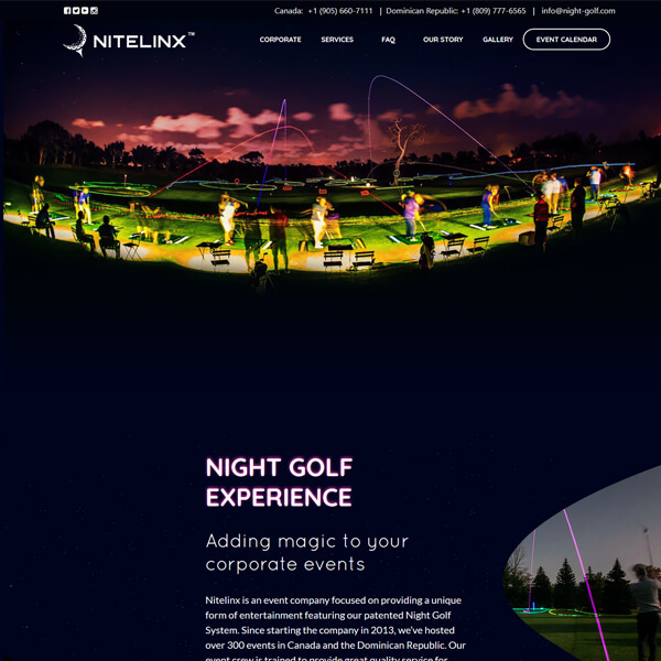 PSD to WordPress Conversion Service Night-golf.com