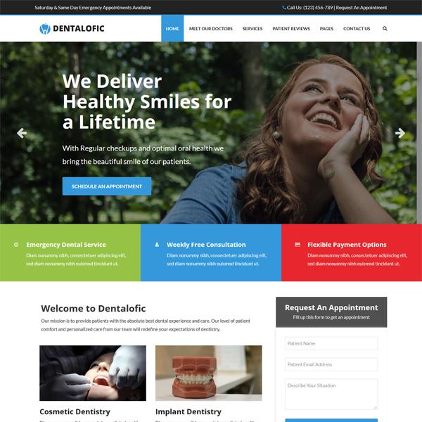 PSD to WordPress Conversion Service Dentalofic