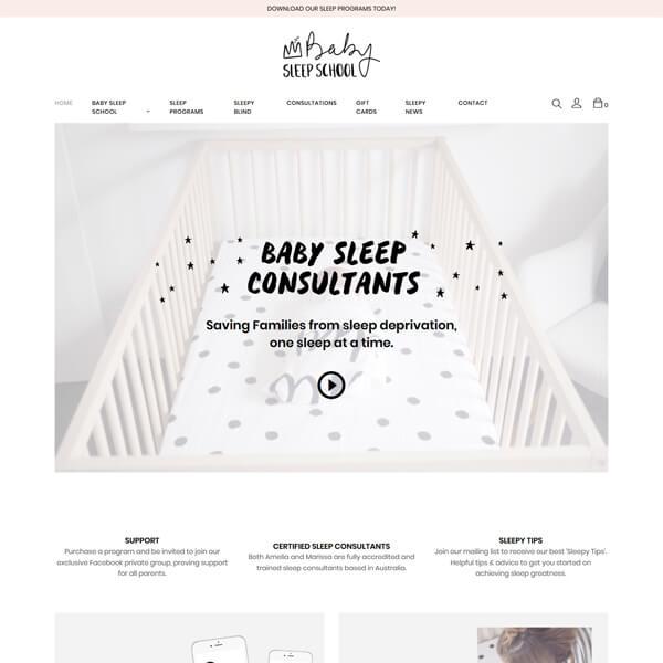 PSD to WordPress Conversion Service Sleepschool.co