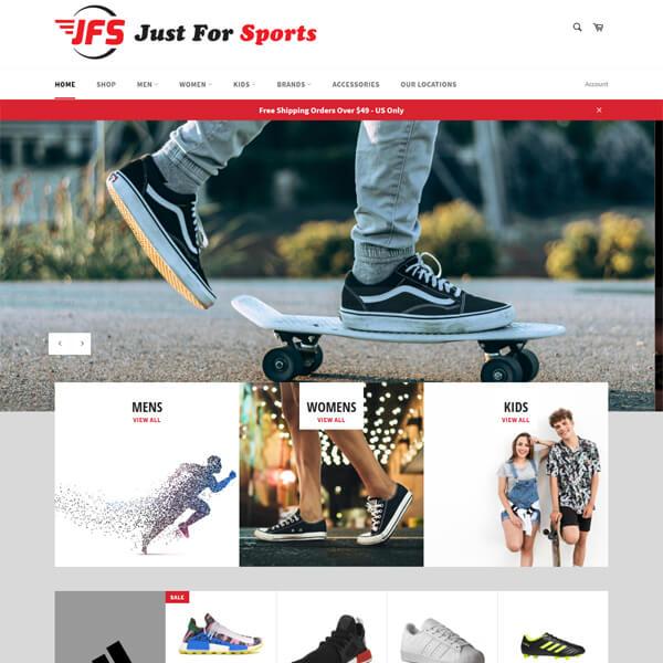 PSD to WordPress Conversion Service Justforsports.com