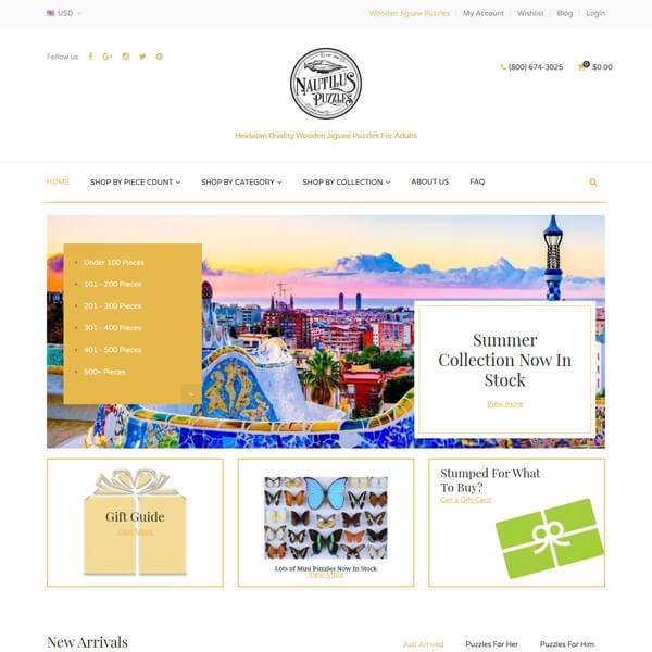 PSD to WordPress Conversion Service Nautiluspuzzles.com